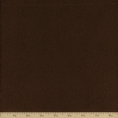 Extra Wide Solid Flannel Fabric - Chocolate