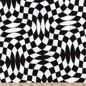 Extreme Sports IV Racing Check Cotton Fabric - Black