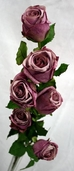Fabiola Rose Stem Pkg of 6 - Lilac - CLEARANCE