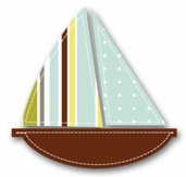 Fabric Iron-Ons For Baby - Boat