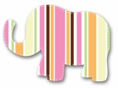 Fabric Iron-Ons For Baby - Elephant
