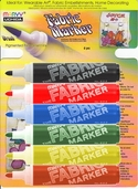 Fabric Marker Brush Point Set of 6 - Assorted Colors