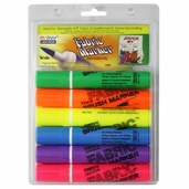 Fabric Marker Brush Point Set of 6 - Bright Colors