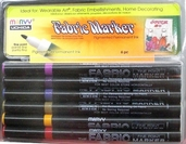 Fabric Marker Fine Point Set of 6 - Earth