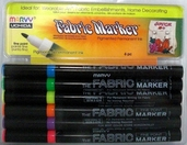 Fabric Marker Fine Point Set of 6 - Neon