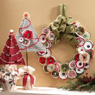 Fabric Trees and Wreath