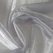 Fairy Dust Embellished Organza - Silver
