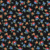 Fairy Tale Friends Cotton Fabric - Black