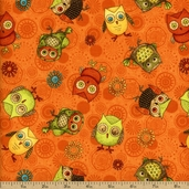 Fall Fun Cotton Fabric - Orange Q.1604-80691-887W