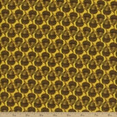 Falling Leaves Acorn Cotton Fabric - Yellow