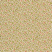 Family Tree Ditsy Flower Cotton Fabric - Olive