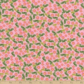 Fantasy Floral Cotton Fabric - Pink