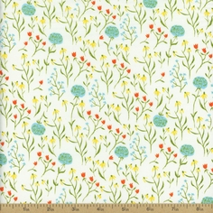 Far Far Away Clover Cotton Fabric - Blue