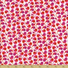 Far Far Away Snails Cotton Fabric - Pink