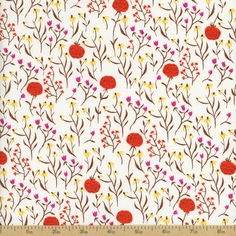 Far Far Away Clover Cotton Fabric - Orange