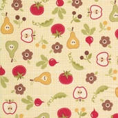 Farm Fresh Cotton Fabric - Cream