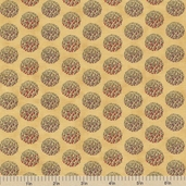 Farmer's Market Floral Dot Cotton Fabric - Maize