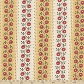Farmer's Market Trellis Stripe Cotton Fabric - Maize