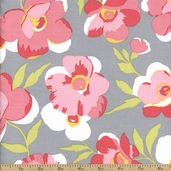 Fashion Plate Floral Cotton Fabric - Grey