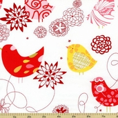 Fashionista Starling Cotton Fabric - White P6863-GR