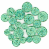 Favorite Findings Glitter Buttons - Teal Twinkle