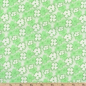 Feedsack Flowers Cotton Fabric - Green 30912-5
