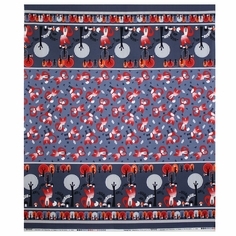Feeling Foxy Large Stripe Cotton Fabric - Grey