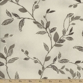 Felicity Branches and Leaves Cotton Fabric - Grey
