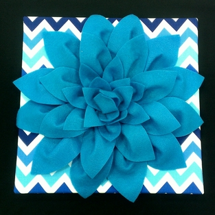Felt Flower Canvas
