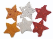 Felted 100% Wool Embellishments - Stars - Clearance
