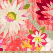 Fiesta Medium Floral Cotton Fabric - Pink AJS-11947-194 FIESTA - Sale