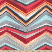 Fiesta Zig Zag Stripe Cotton Fabric - Fiesta
