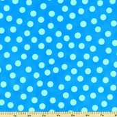 Fine Lines Bubble Trouble  Dots Cotton Fabric - Blue 2048-2