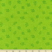 Fine Lines Daisy Daze Cotton Fabric - Green 2016-4