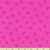 Fine Lines Daisy Daze Cotton Fabric - Pink 2016-3