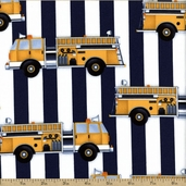 Fire Station Cotton Fabric - Yellow AGE-13019-5