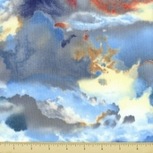 First Light Cotton Fabric - Cloudy - Sky Blue