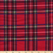Flannel Elements Classic Plaid Flannel Fabric - Red
