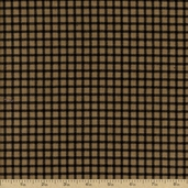Flannel Elements Cotton Fabric - Black and Brown #31608-4