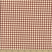 Flannel Elements Cotton Fabric - Red and White #31608-3