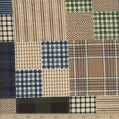 Flannel Elements Patchwork Cotton Fabric - Beige