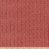 Flannel Elements Pinstripe Cotton Fabric - Red