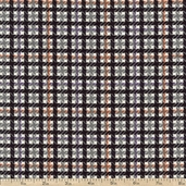 Flannel Elements Tight Plaid Flannel Fabric - Black