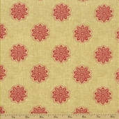 Fleur Rouge Cotton Fabric - French Medallion Rouge