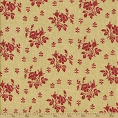 Fleur Rouge Cotton Fabric - Rose Silo Rouge