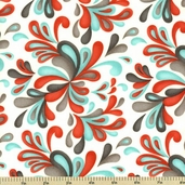 Flirt Cotton Fabric - Plumes - Multi Color 17704-13