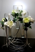 Floating Candle Centerpiece Triple - Silver