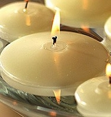 Floating Candles - 2.8 inch 3 pk - Ivory