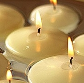 Floating Candles - Ivory 2-1/4 inch 6 pk