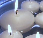 Floating Candles - White 2.8 inch 3 pk